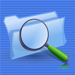 folder and magnifying glass