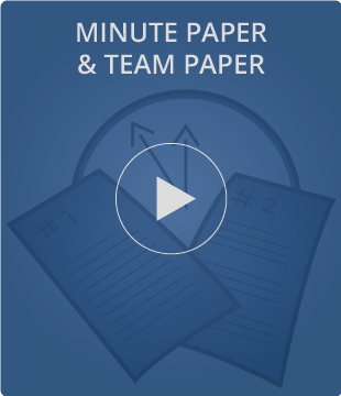 Minute Paper and Team Paper Video