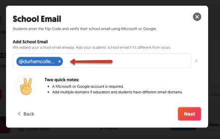 FlipGrid Add DC School Email Address