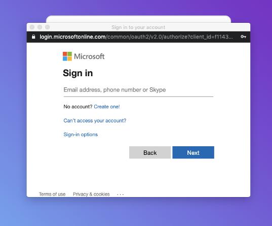 Microsoft Login Page