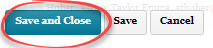 Save and Close button