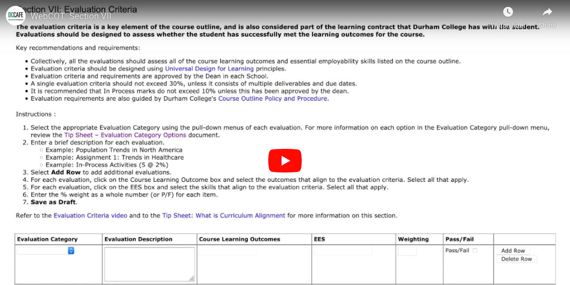 WebCOT Section VII Video Thumbnail