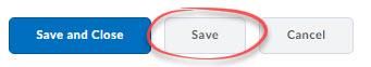 save button