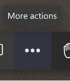 Teams interface. More actions button.