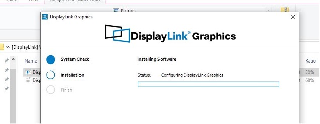 starTech DisplayLink Graphics Finish installing