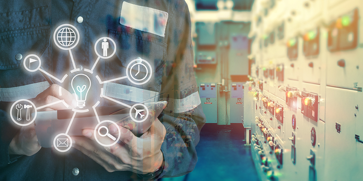 The reception area of a library