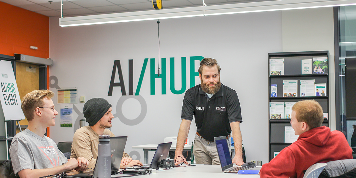 Members of DC's AIHub meet.