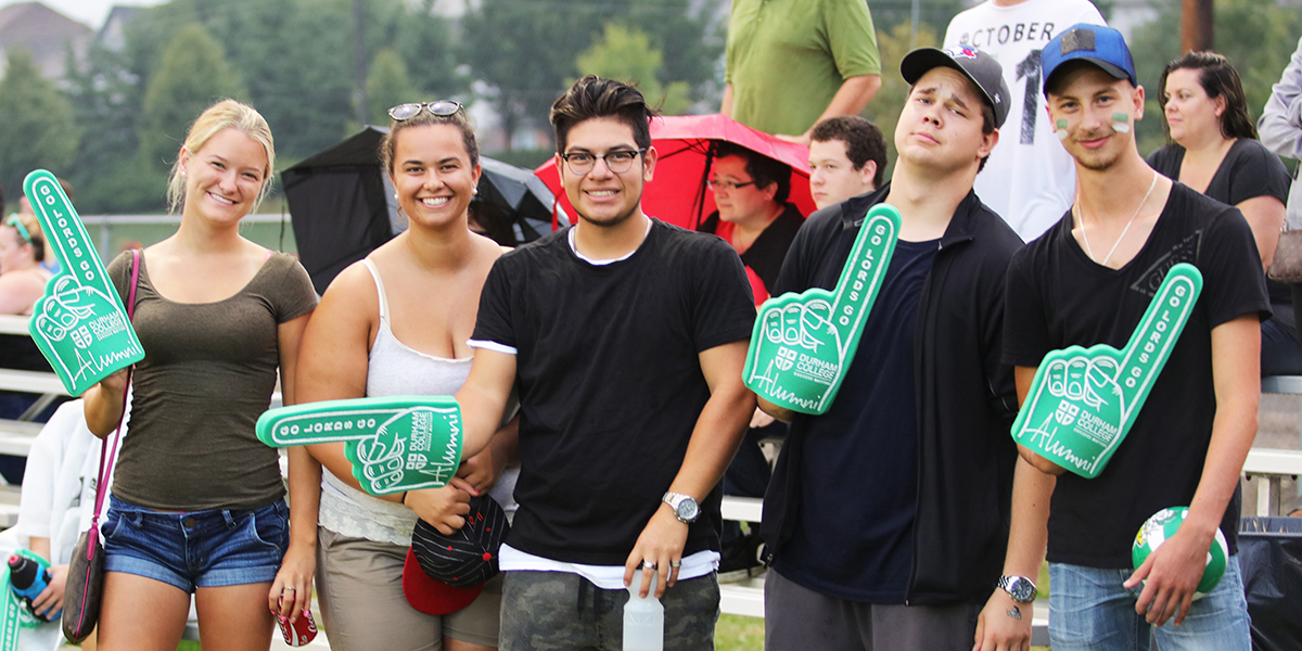 Students supporting the lords during the campus cup games