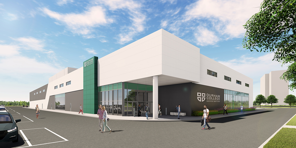 Image for the Construction begins on Durham College's Whitby campus Phase IV expansion.