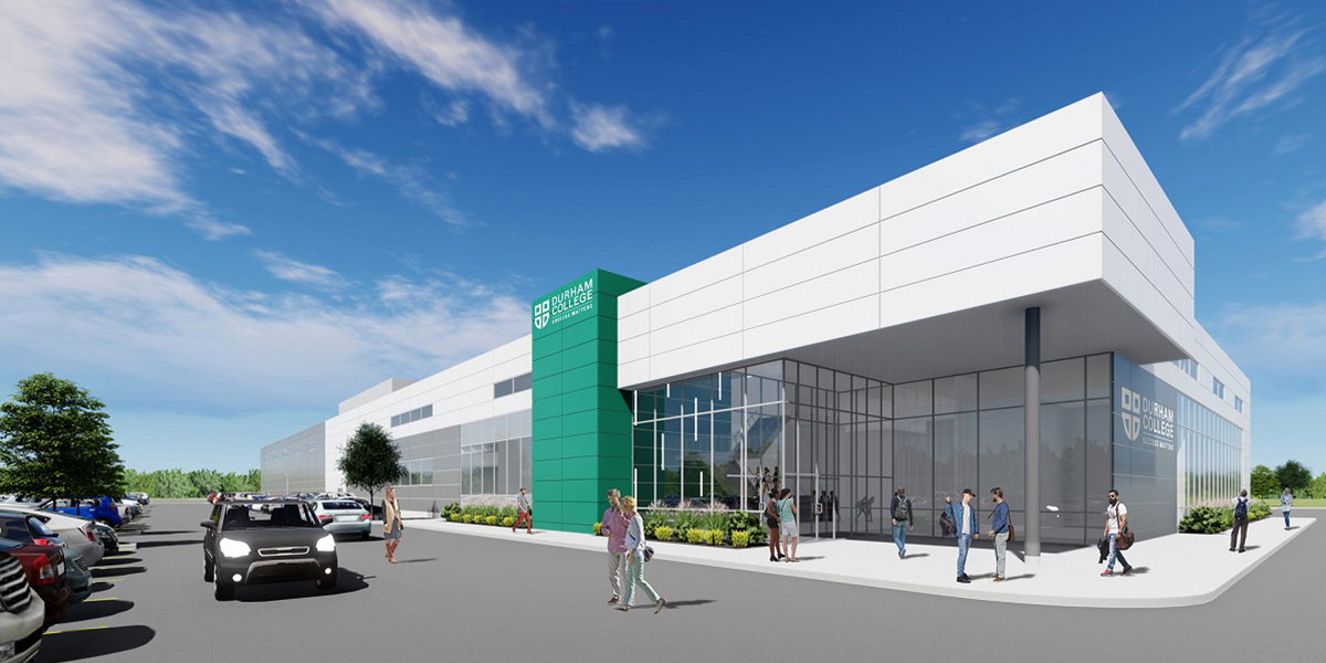Skilled Trades Centre exterior rendering