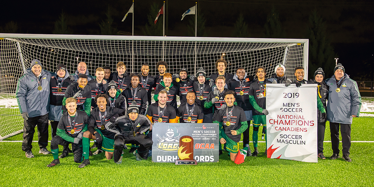 Image for A winning weekend for Durham Lords men's soccer and rugby teams.