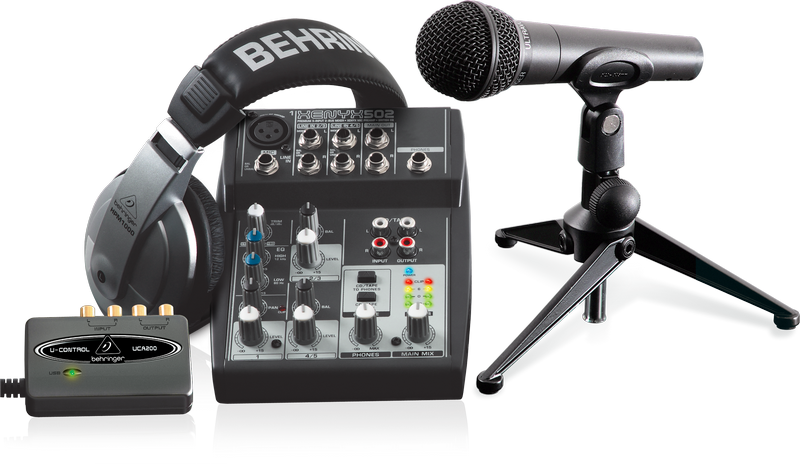 Podcast studio equipment