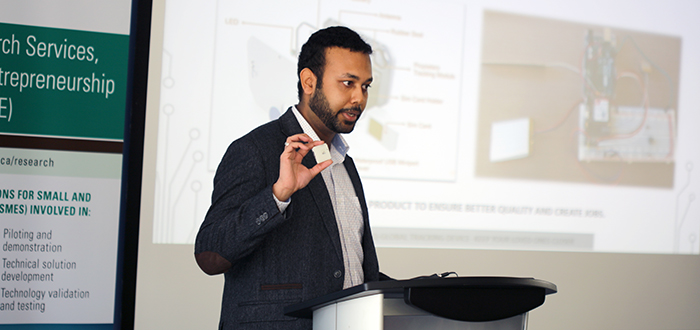 Speaker talking to participants during an Entrepreneurship event
