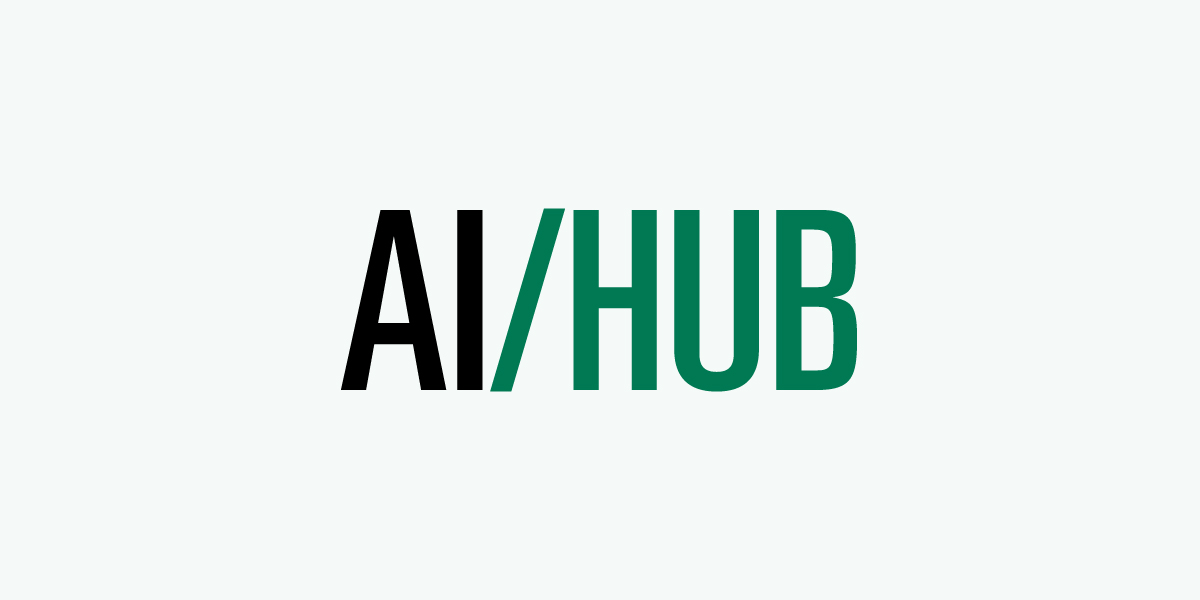 Logo for the AI Hub at Durham College.