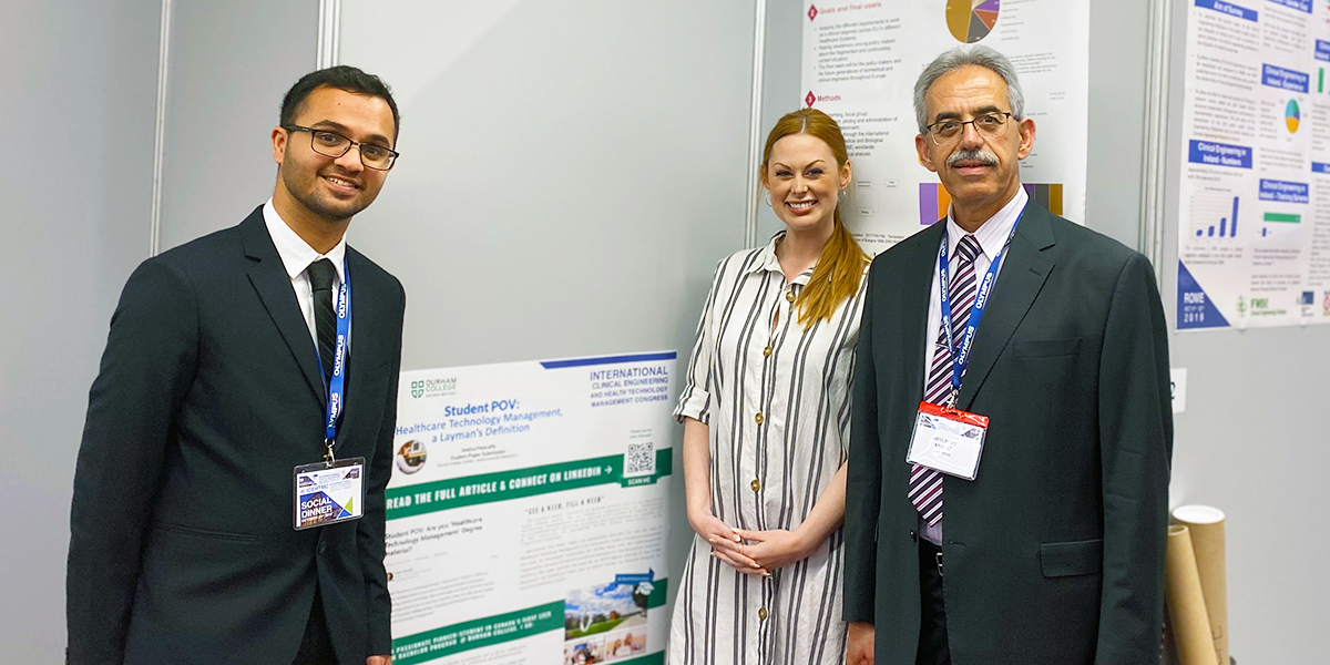 Image for DC student, alumni and faculty member travel to Rome, Italy for health care technology conference.