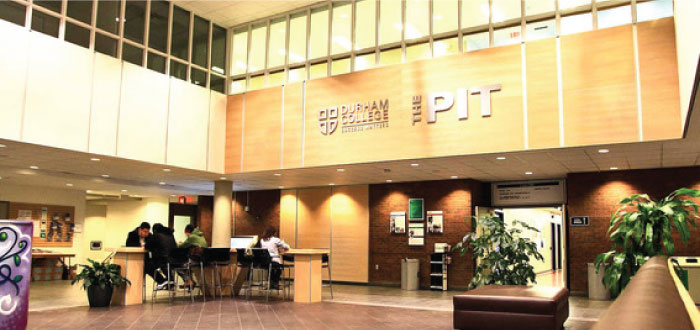 A photo of The Pit in the Gordon Willey building
