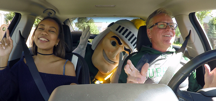 Don Lovisa and Sarah Mark sing along in the DC Volt.