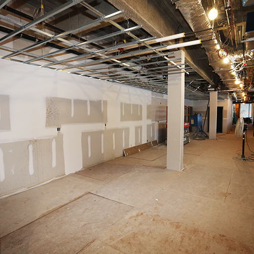 Drywall at cfce construction