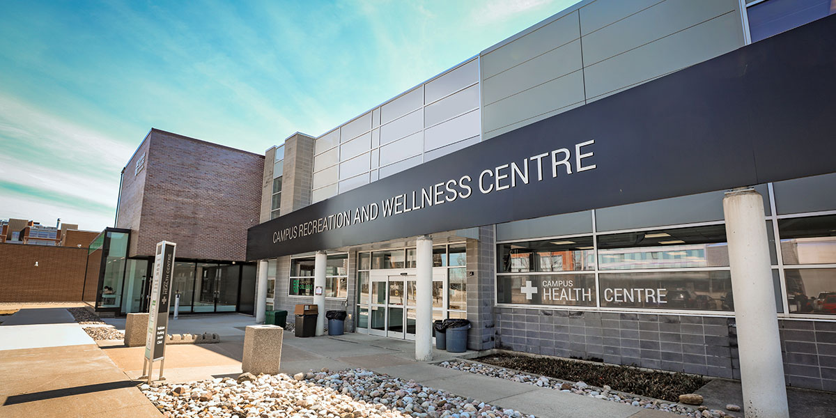 Exterior shot of the Health and Wellness Centre at Durham College Oshawa campus.