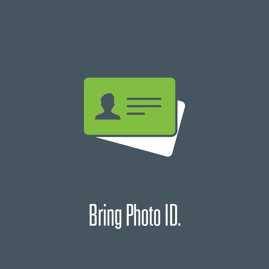 Bring photo ID logo