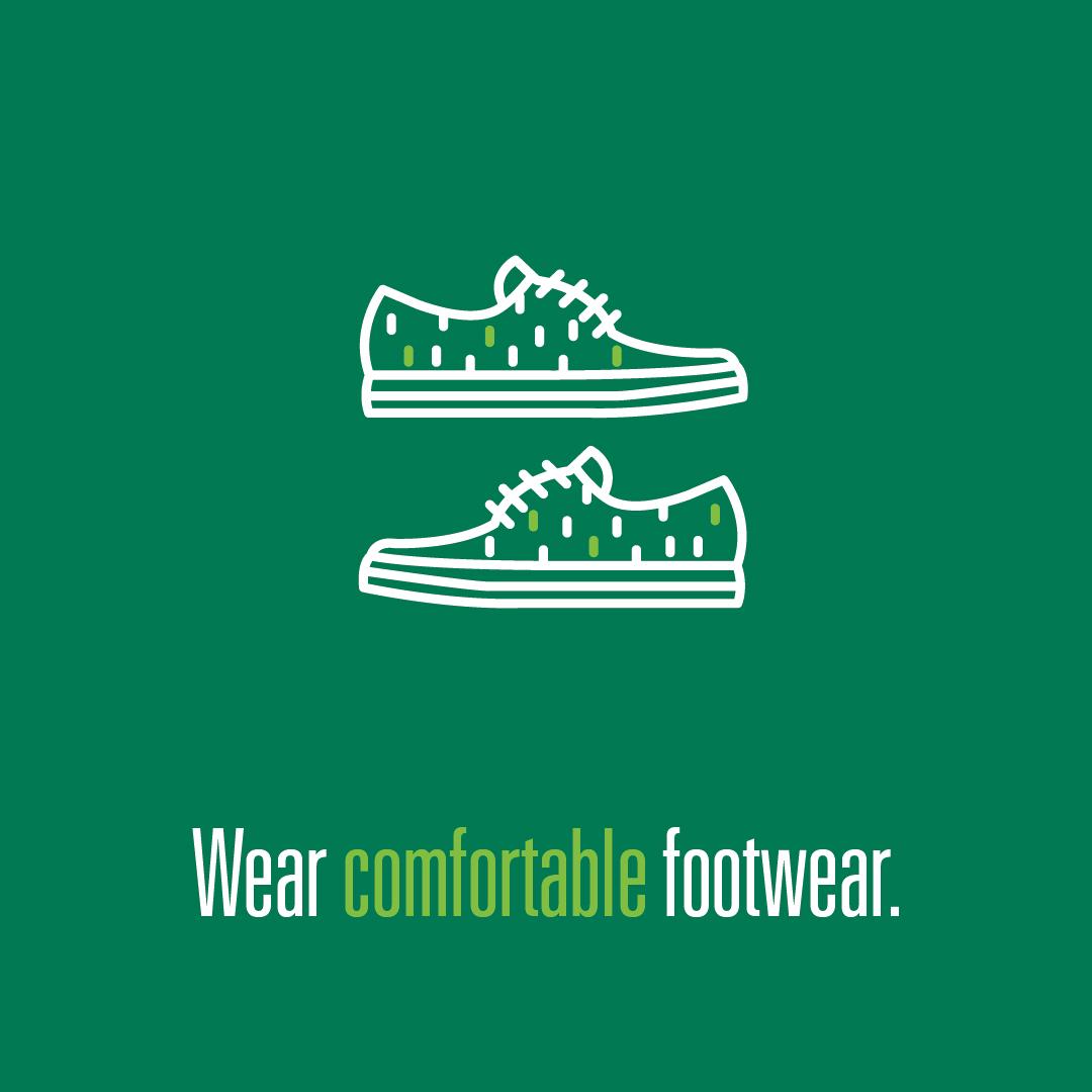 Wear comfortable footwear logo