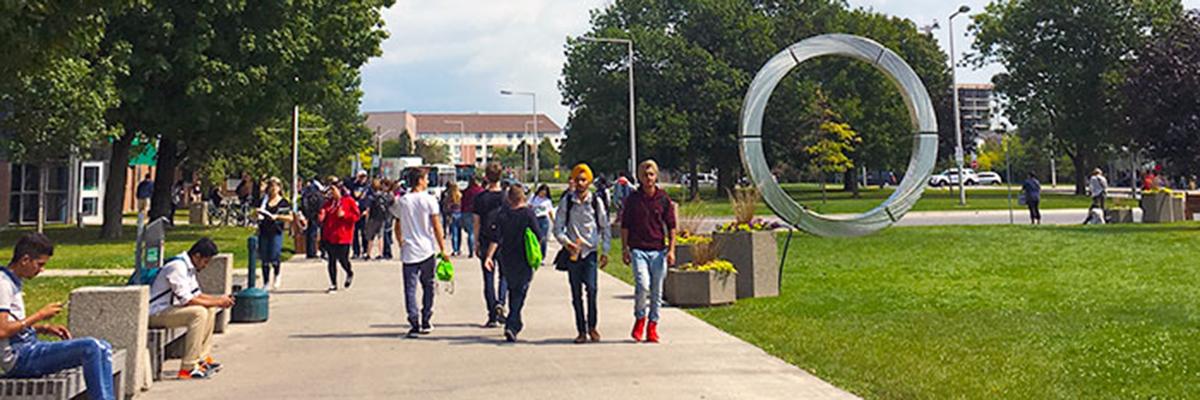 Students at Oshawa campus