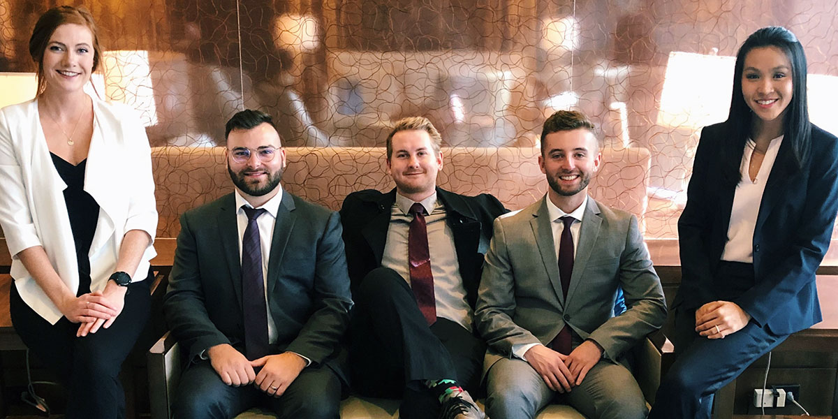 Image for DC sports business students win third place in industry case study competition.