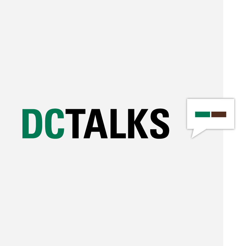 Logo for the DC Talks initiative.