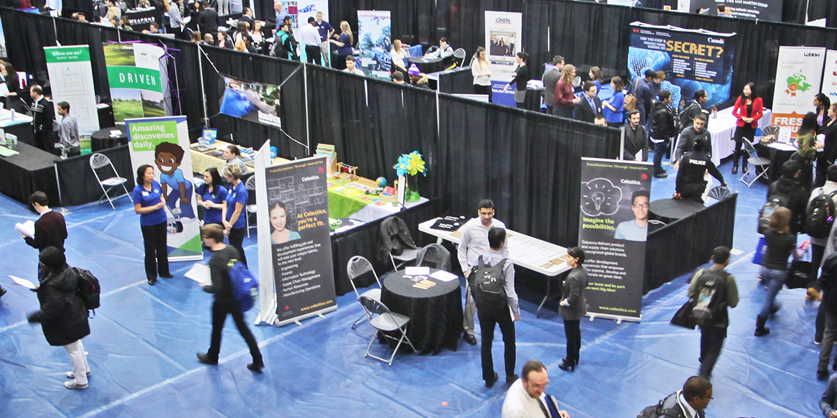Overhead photo of Job Fair.