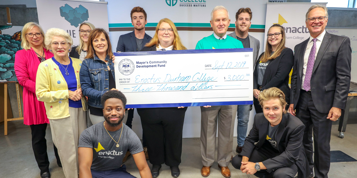 Enactus DC receives $3000 grant from Town of Whitby.