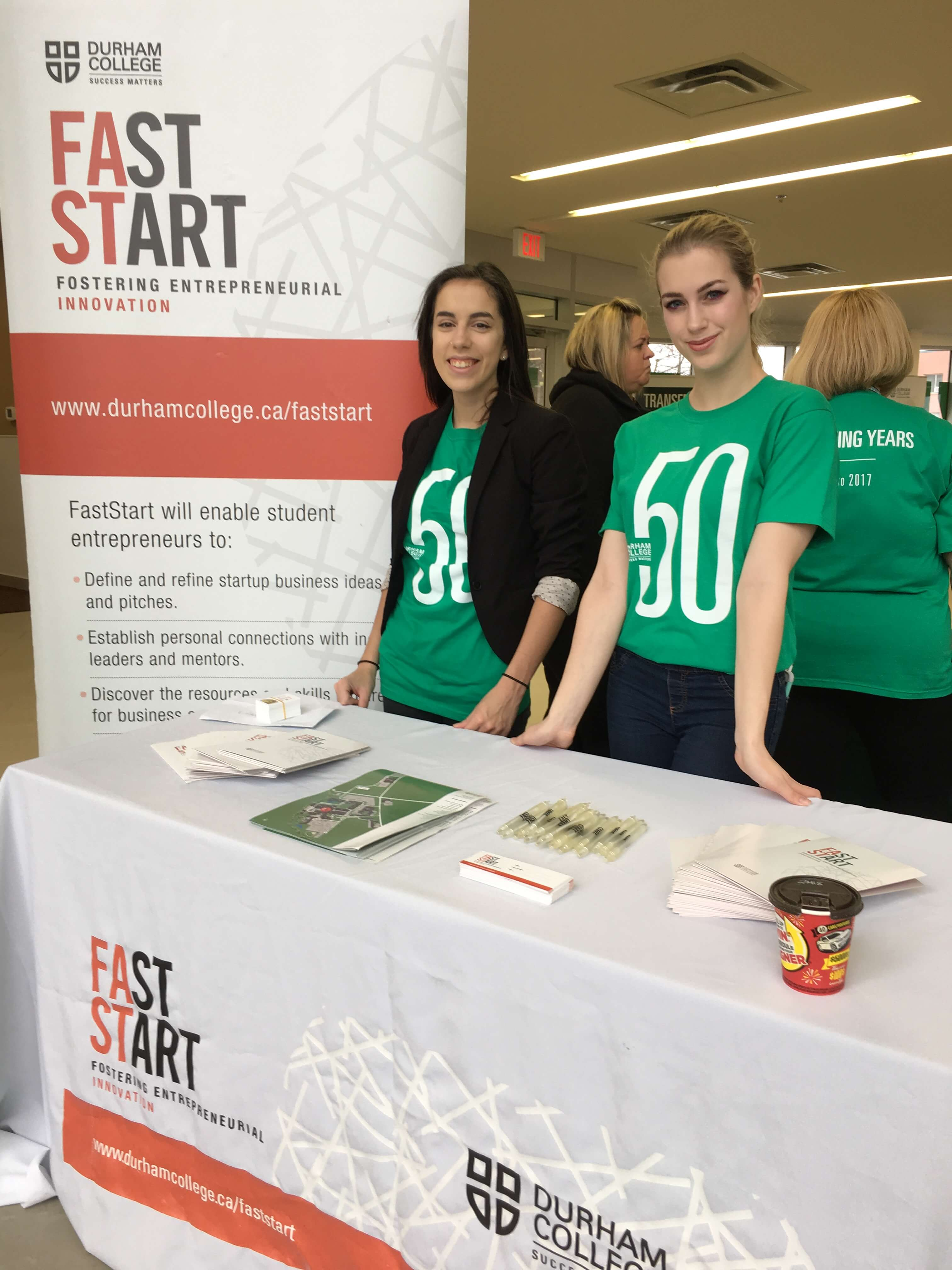 Fast start booth at spring open house