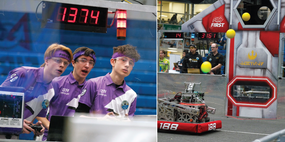 Image for High school students get taste of campus life as DC hosts FIRST® Robotics Competition.