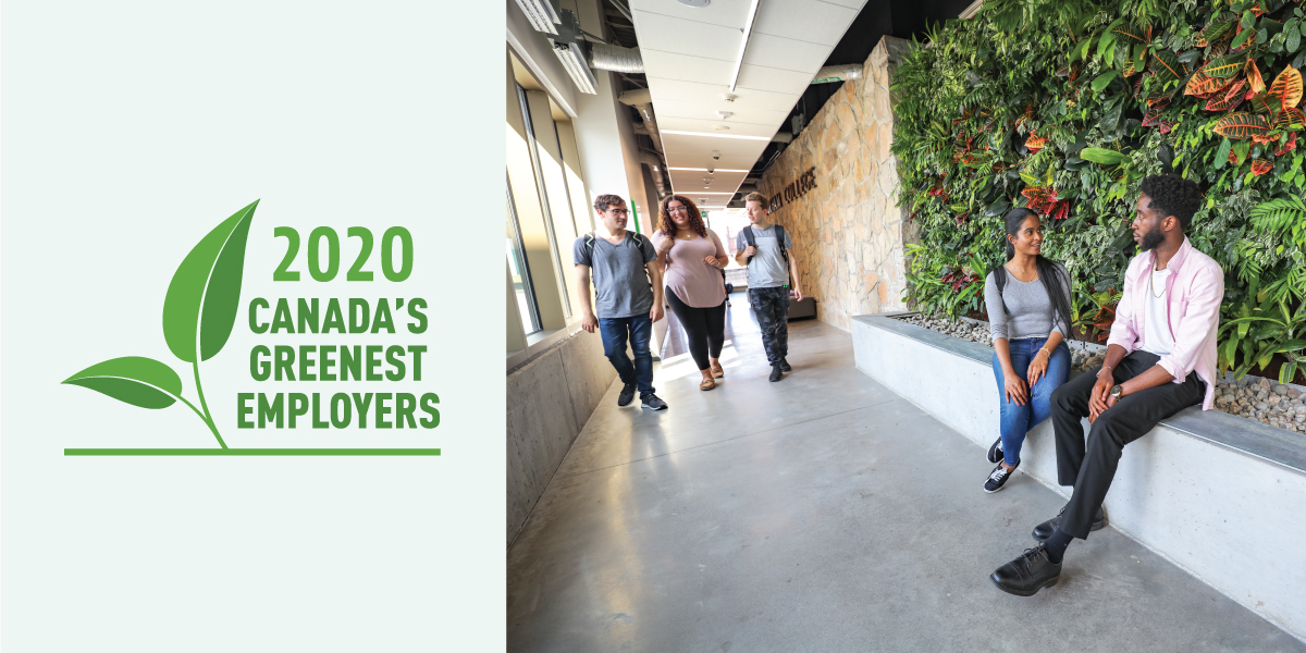 Image for Durham College named one of Canada's 2020 Greenest Employers.
