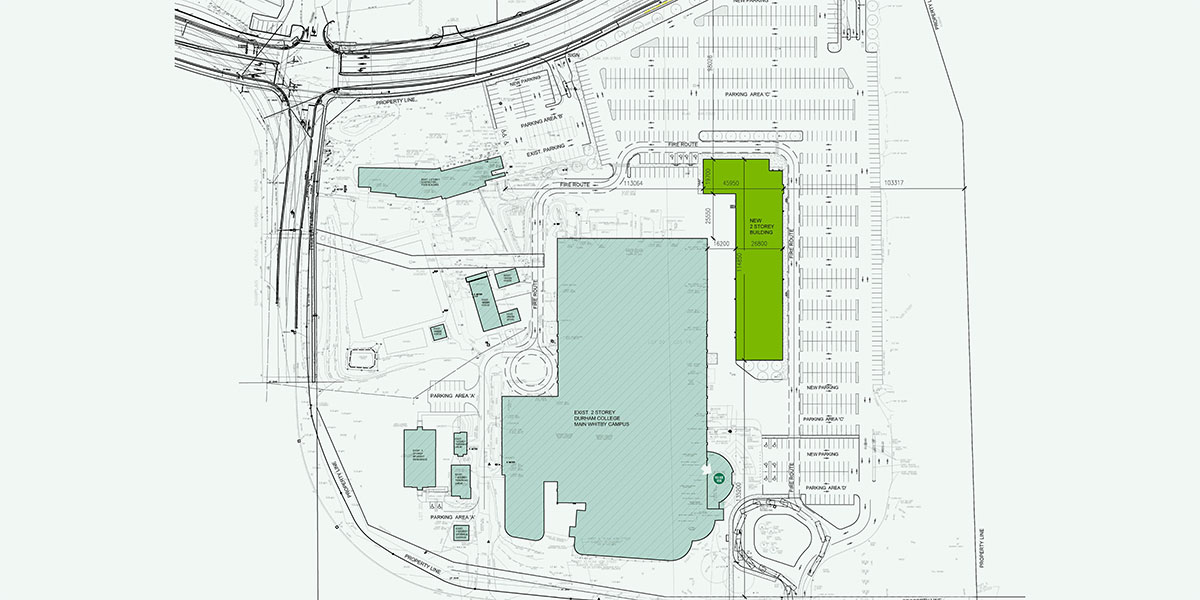 Map overview of the Whitby phase iv expansion.