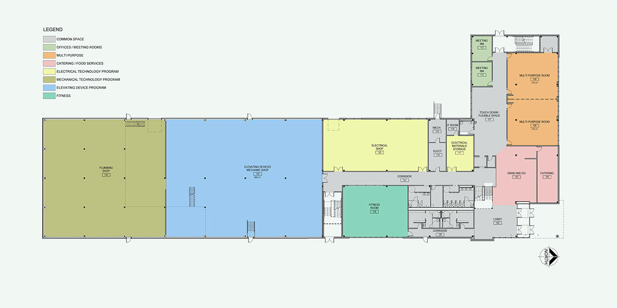Floor map of the whitby phase iv expansion.