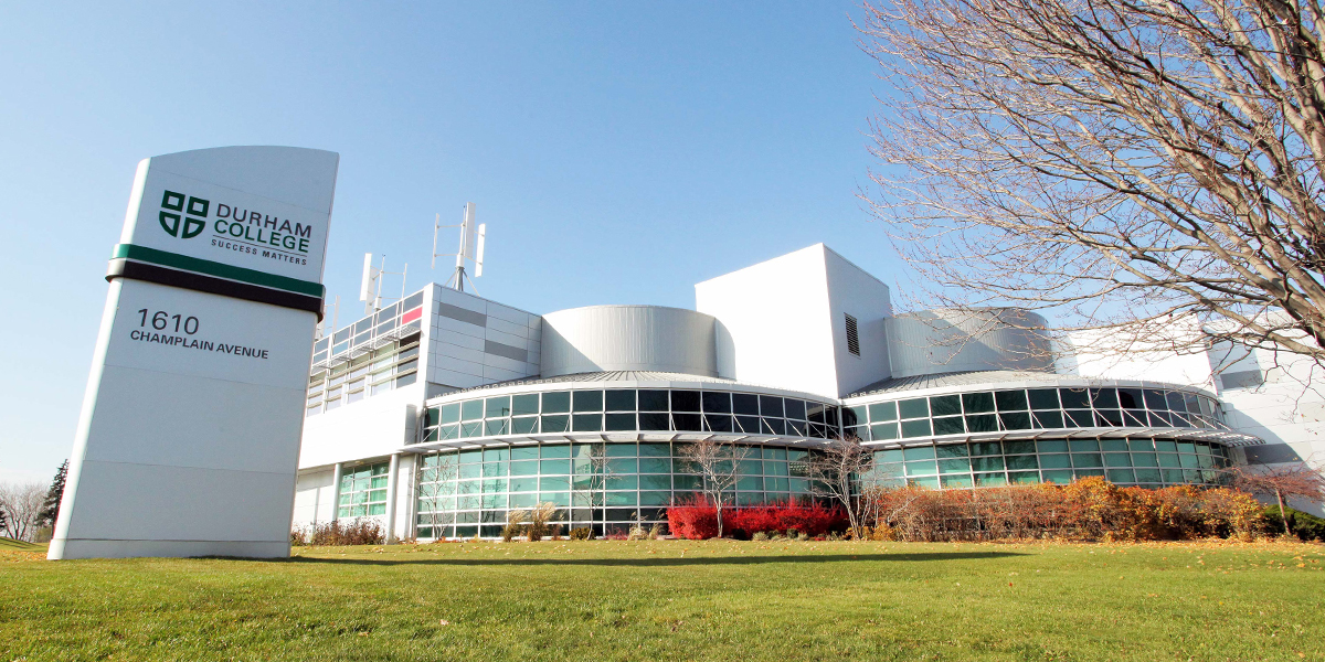 Shot of DCs Whitby Campus.