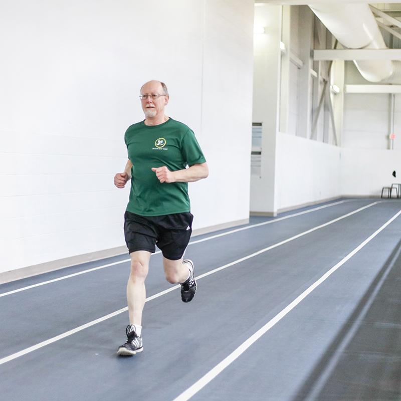 Indoor track photo.